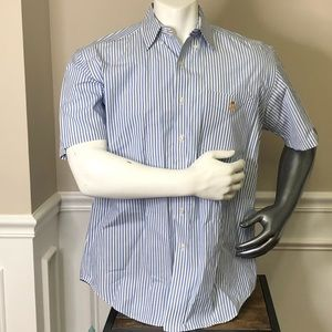 M Men's Lauren Ralph Lauren blue white button down